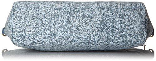 Borbonese T, Borsa a Mano Donna, 40x28x13 cm (W x H x L) Blu (Mar)
