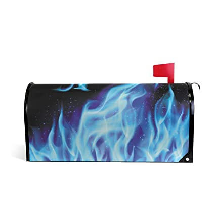 Amazon Com Unicey Blue Fire Dragon Magnetic Mailbox Cover Mail