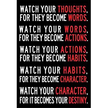 watch your thoughts poster decor for classroom office motivational posters 13x19 inch office motivational posters84 motivational