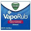 Vicks VapoRub Soothing Chest Rub Cough Suppressant,1.76 Oz (Pack of 3)