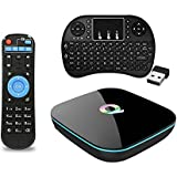 LightSame Smart TV BOX 2GB/16GB/4K Amlogic S905X Quad Core 1000M LAN 3D Bluetooth 4.0 2.4GHz 5.0GHz Dual Wifi Android TV Box with Mini Wireless Backlight Keyboard Touchpad