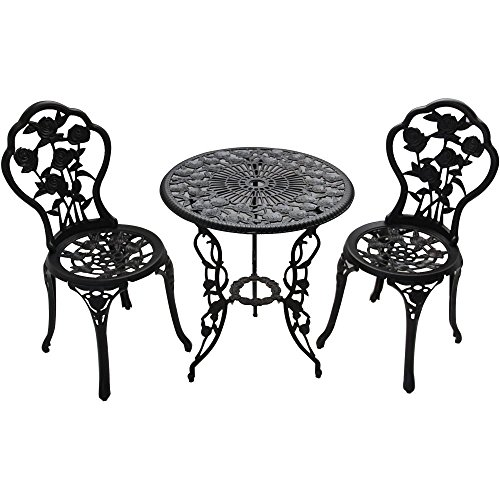 Better Homes and Gardens Rose 3-Piece Bistro Set 2 Chairs Furniture Table ()