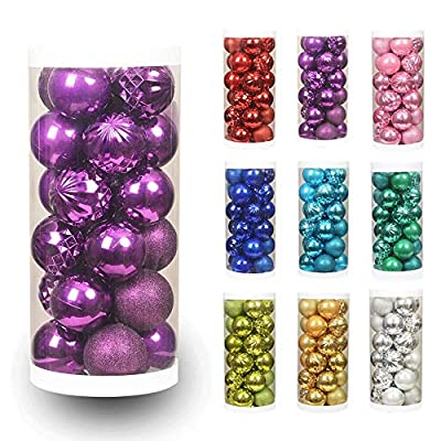 XmasExp Christmas Ball Ornaments Shatterproof Christmas Ornaments Set Decorations for Xmas Tree Balls ...