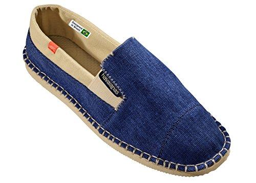 Zapatos Alpargatas Havaianas Originales Yate De 2 Verde Militar azul marino