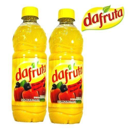 Dafruta Cashew Juice Concentrate - 16.9 FL.Oz | Suco Concentrado Dafruta Sabor Caju - 500ml - (PACK OF 02) by Dafruta