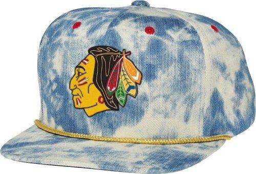 - Mitchell & Ness Men's Chicago Blackhawks Acid Wash Snapback Hat One Size Blue