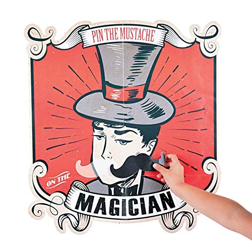 Mustache Themed Birthday (Pin The Mustache on the Magician game for up to 8)