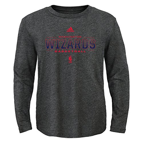 fan products of NBA Athletic Standard Long Sleeve Tee-Charcoal-M(10-12), Washington Wizards