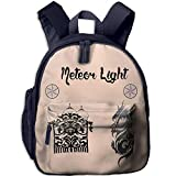 Muslims Islam Mosque Children's Backpack For School With Pockets Have Double Zipper Closure Navy