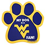 All Star Dogs NCAA West Virginia Mountaineers Paw Print Car Magnet
