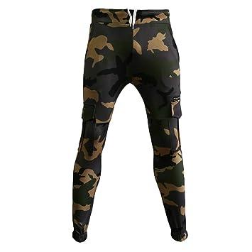 c928beac Men's Cargo Pants Slim Fit Casual Jogger Pant Skinny Camouflage Zipper  Pocket Stretch Trousers Sweatpants