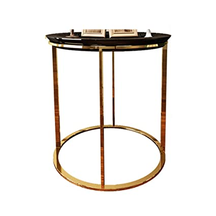 Pleasing Amazon Com Yzzy Side Table Round Metal Side Table Coffee Download Free Architecture Designs Itiscsunscenecom
