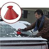Longay Scrape A Round Magic Cone-Shaped Windshield Ice Scraper Snow Shovel Tool (red)