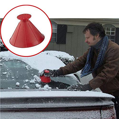 Affordable Snow Shovel Tool,Scrape A Round Magic Cone-Shaped Windshield Ice Scraper Clean Convenient Snow Shovel Tools(Red) by CSSD Clearance Sweater (Image #6)