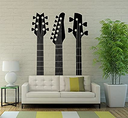 Guitar Wall Decal Vinyl Sticker Musical Instrument Interior