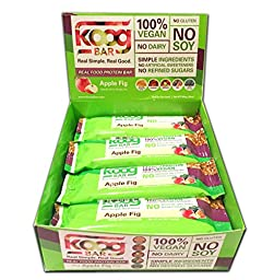 Real Food Protein Bar Koog Apple Fig Bar Health is Wealth