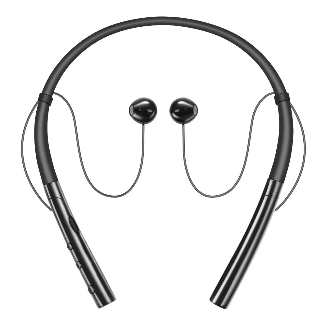Bluetooth Headphones, HokoAcc Wireless Neckband Headset, IPX7 Sweatproof Sports Noise Cancelling Stereo Magnetic Earphones with Mic (10 Hrs Playtime,Call Vibrate Alert)