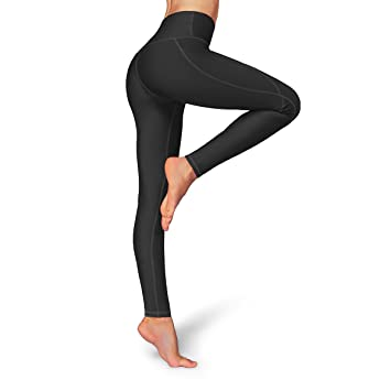 ae2a97e6a2eeb Occffy High Waist Out Pocket Yoga Pants Womens Tummy Control Workout  Leggings (Small, Black