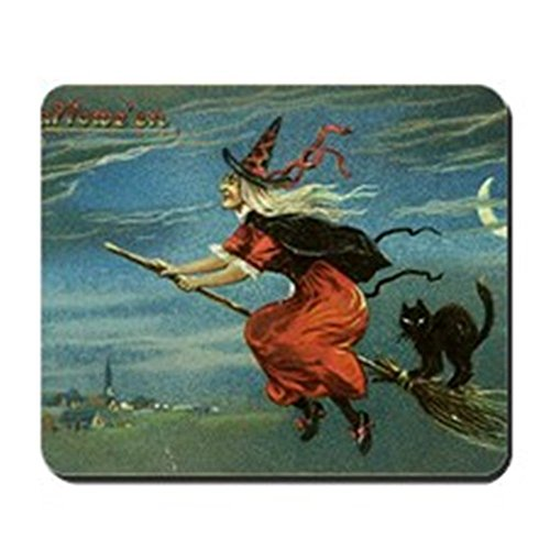 Shirnaile - Halloween Witch Mousepad - Non-Slip Rubber Mousepad, Gaming Mouse Pad