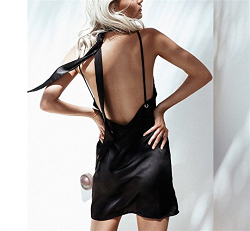 pour Sexy Robe Sling Weekendy Halter Basse Black V Cou Femmes Bandage Les Taille adYwzxwUq
