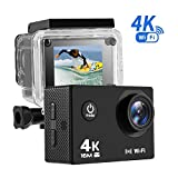 NEXGADGET 4K Action Camera, EXPLORER1 Series Waterproof Sports Camera with Sony Sensor WiFi Ultra HD 16MP 170 Degree Wide-Angle 2 Inch LCD Camera Diving up to 30Meters