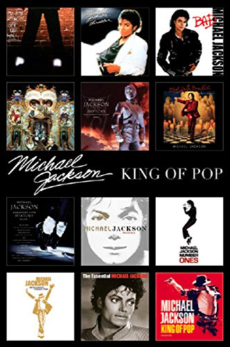 Michael Jackson Album Covers Collage Pop Rock Music Icon Legend Celebrity Poster Print 24 by 36 Michael Jackson Covers