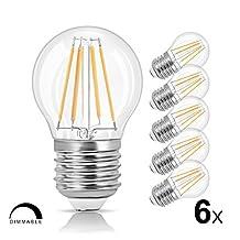 LVWIT G45 LED Filament Bulb 4W Dimmable LED Vintage Edison Bulb E26 Base 2700K Soft White LED Light Bulbs 40 Watt Incandescent Bulbs Equivalent 6 Pack