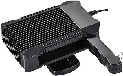 2 en 1 calentador de coche potente ventilador de refrigeración, calefacción rápidamente y bajo ruido 12V parabrisas del desempañador, Enchufe de mechero, calentador portátil coche eléctricas,: Amazon.es: Coche y moto