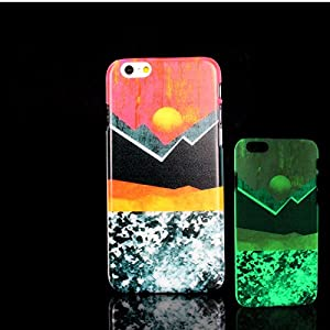 For iPhone 7 Plus Case, Glow in the Dark Marble Art Pattern TomCase Fluorescent Back Cover for iPhone 7 Plus Case 5.5 inch, P10