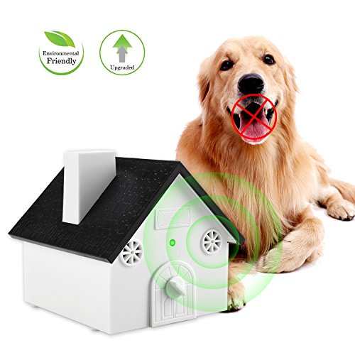 Smarlance Ultrasonic Anti Barking Device Sonic Bark Control Deterrents Stop Dog Barking, Safe for Dogs, Pets and Human, Outdoor Birdhouse Shape up to 50 Feet Range, Hanging or Mounting (Bark Stop Dog Ultrasonic)