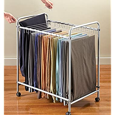 Collections Etc Rolling Pants Organizer Rack