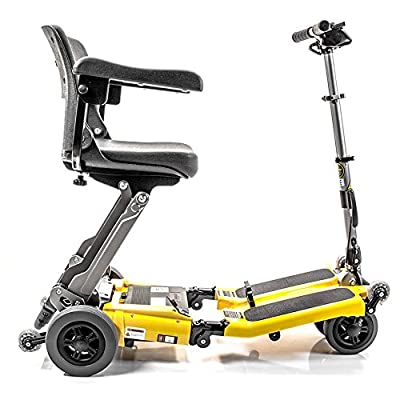 LUGGIE ELITE Folding Travel 10.5 Ah Lithium Powered Electric Mobility Scooter - New Generation Tiller