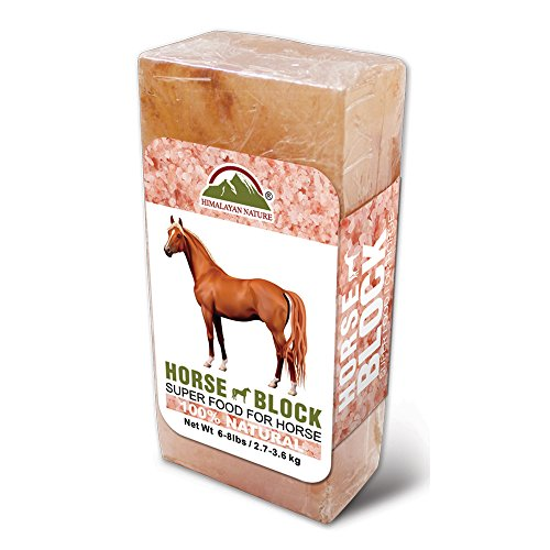 Rock Salt Lick - Himalayan Nature Rock Mineral Horse Salt Licking Brick, Super Food for Horse (3-5 lbs)