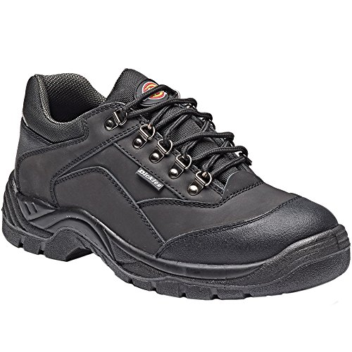 Dickies Mens Norden Work Safety Steel Toe Cap Midsole Leather Shoes Black