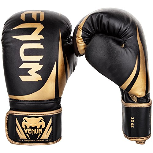 (Venum Challenger 2.0 Boxing Gloves - Black/Gold - 16-Ounce)
