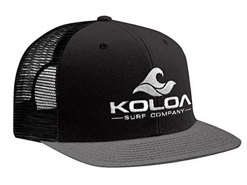 - Koloa Surf(tm) Mesh Back Wave Logo Trucker Hat Grey/Black with Grey Logo