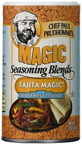 Fajita Magic - Chef Paul Prudhomme's Magic Seasoning Blends ~ Fajita Magic, 5-Ounce Canister by Magic Seasoning Blends