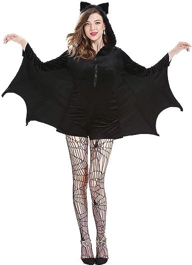 Liny Traje de Murciélago de Halloween - Adulto Negro Alas de ...