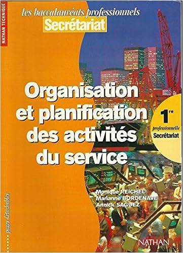 Livres en format pdb téléchargement gratuit Organisation et planification des activités du service, 1re professionnelle. Livre de l'élève by Monique Reichel PDF FB2 iBook 2091772674