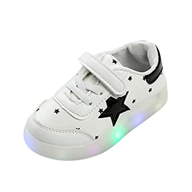 Kids Girls Boy Childs Lights Up Breathable Casual Soft Slip-On Shoes 5 Colors