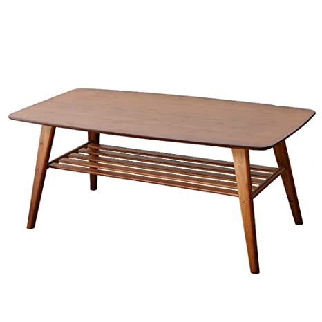 Side Table 100 Cm.Amazon Com Coffee Tables Table Solid Wood Two Story Small