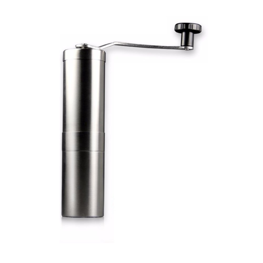 Huining Manual Coffee Grinder - Professional Heavy Duty Stainless Steel with Adjustable Ceramic Burr - Portable Handheld Mill Offers Consistency And Precision For Any Brewer