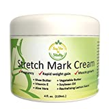Best Stretch Mark Cream – For Prevention and Removal of Old or New Marks – Stretch Mark Removal Cream for Men or Pregnant Women – Contains Vitamin E, Aloe Vera + Shea Butter to Fade Stretch Marks
