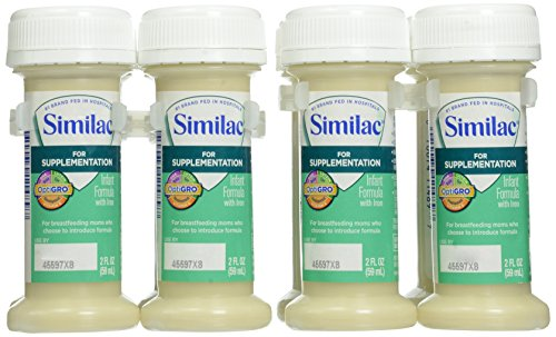 Similac For Supplementation Infant Formula with Iron, Ready-to-Feed Bottles, 8 Count