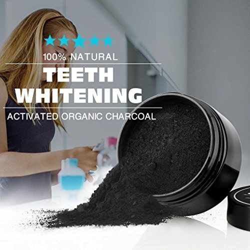 Creazy Teeth Whitening Powder Natural Organic Activated Charcoal Bamboo Toothpaste C