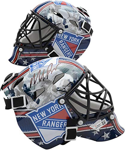 - Mike Richter New York Rangers Autographed Mini Goalie Mask - Fanatics Authentic Certified - Autographed NHL Helmets and Masks