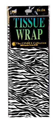 Cindus 4 Count Tissue Zebra Print, Multicolor -