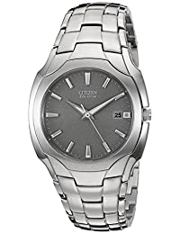 Citizen Men's BM6010-55A Eco-Drive Stainless Steel Silver Dial Watch
