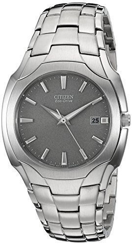 Citizen Men's Eco-Drive Stainless Steel Watch with Date, BM6010-55A (55a Citizen Eco Drive)