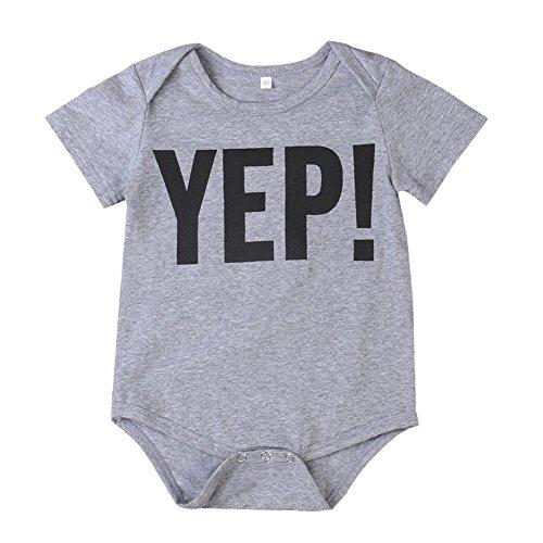 Price comparison product image Newborn Baby Boys Short Sleeve Tops Romper Little / Big Brother Shirt Set (0-9 Months,  Yep!)